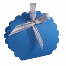 Ocean Blue Scalloped Clam Designer Favour Boxes